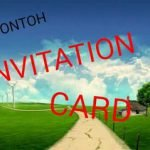 Contoh Invitation Card ( Kartu Undangan ) dan Terjemahannya ( Artinya )