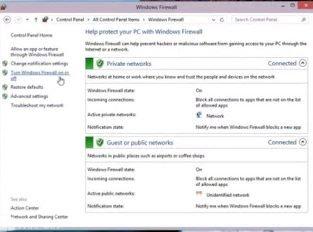 Mengaktifkan dan Mematikan Windows Firewall