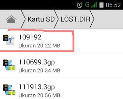 Cara menemukan file yang hilang pada memory card android 2