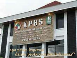 Peran koperasi dalam perekonomian Indonesia