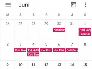 Cara buat kalender hari libur nasional di ponsel