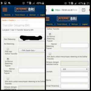 Cara Transfer uang lewat Internet Banking BRI 1