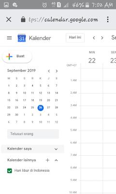 Cara buat kalender pada android dengan hari libur